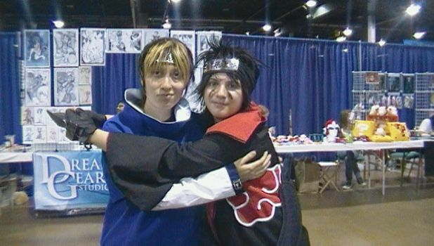 me and joeyblondwolf2 at acen by demonart2