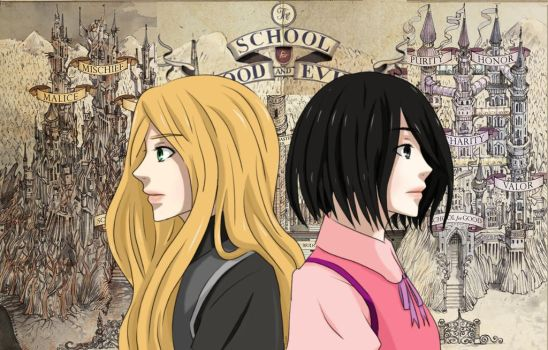 School for Good and Evil (anime version) by Kylle-1007