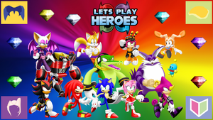 Let's Play Sonic Heroes Wallpaper by MidniteAndBeyond