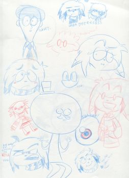 Summer Doodles 1 by BucketOfFail