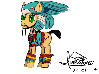 Aztec Pony by ivaneit0r