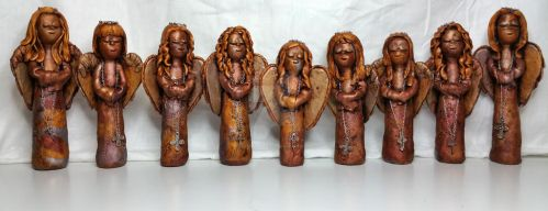 Christmas Tree Angel Ornaments by MarilynMorrison
