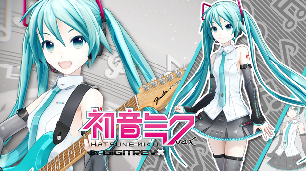 Hatsune Miku V4X Model Digitrevx Release by Digitrevx