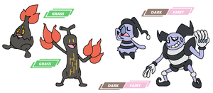 Bonsly and Mime Jr line regional variants by JWNutz