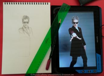 Twelfth Doctor portrait - WIP by ArwendeLuhtiene