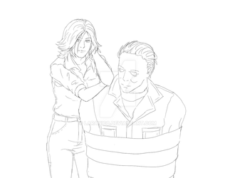 Michael Myers and Laurie Strode ( w i p ) by LaraNico