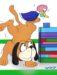 Duck Hunt vs blocks in the waiting room by Count-Toon
