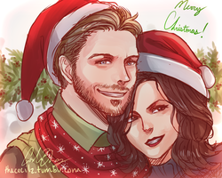 OQ Christmas Sketch by TheCecile