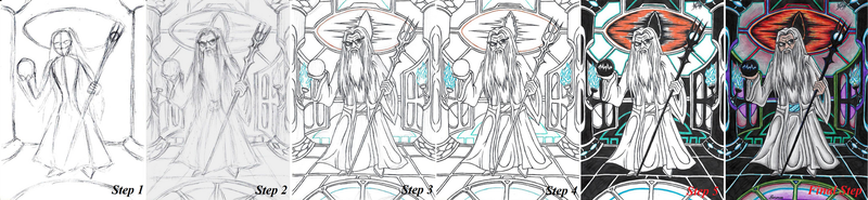.:Art-Tutorial:. How Do I Draw LoTR Saruman by AceOfSpeed94