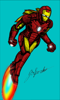 Iron Man Ink Colored by SuperSparkplug