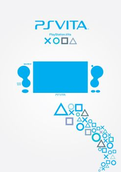 Playstation Vita Poster - Blue by patrickzachar