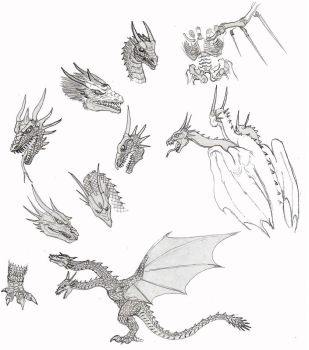 Godzilla2: King Ghidorah sketches by CosbyDaf