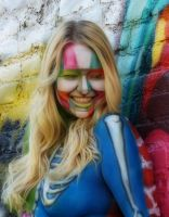 Graffiti body paint by MarquisDeZod