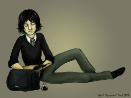 Young Snape by kykywka