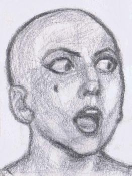 Bald Gaga astonished by gagambo