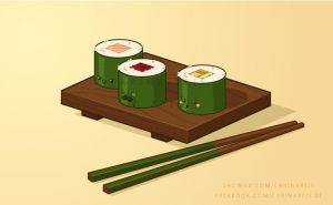 Sushi roll by CarinaReis