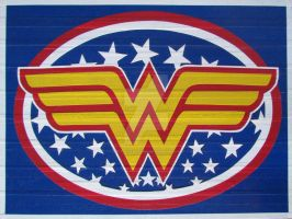 Wonder Woman Duct Tape Art by DuctTapeDesigns