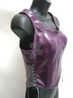 Corset style leather top by OfTheGodsBlood