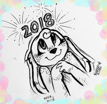 Happy New Year! -2018- by veeeester400