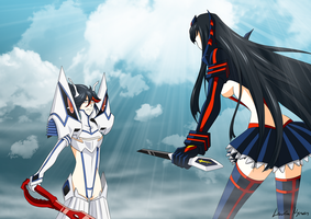 Satsuki vs Ryuko - Confrontation by Laura-Moon97