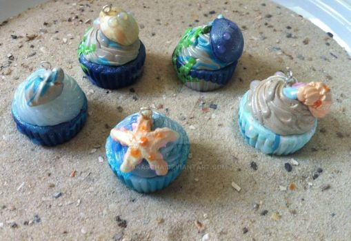 Beach Cupcakes by Akascha