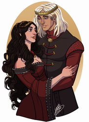 Tumblr Request: Aegon V and Black Betha by naomimakesart