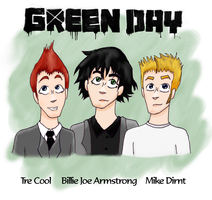 Green Day: Tre, Billie + Mike by MusicalFire