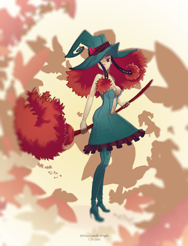 Swirly Witch by fromseatoshiningsea