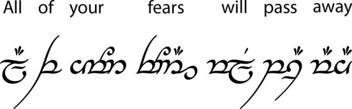 Tengwar Com: all your fears by baalthezzar