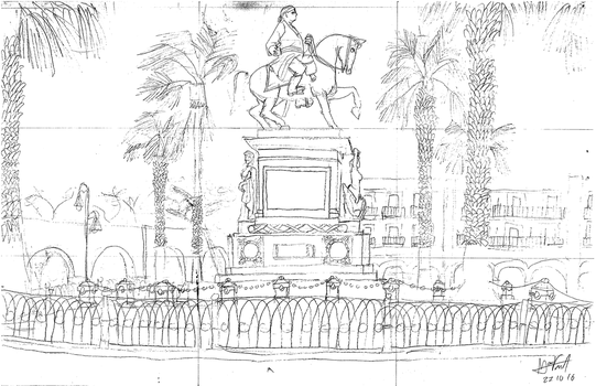 Monumento a Morelos - Morelia, Michoacan [outline] by TheMVAproductions