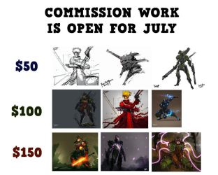 Commission Work for July is OPEN by benedickbana