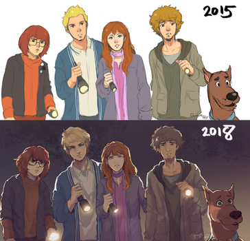 Draw this again: Scooby Gang! by Squaffle