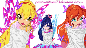 The Winx Club Bloom,Musa and Stella  7 season by PrincessBloom93