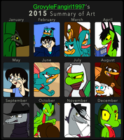 2015 Art Summary by GrovyleFangirl1997
