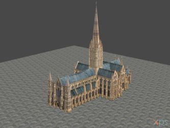 XNALARA XPS Model Release! Salsbury Cathedral by Aequitas-Imperator