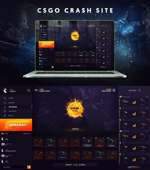 CSGO CRASH web layout by Veni71
