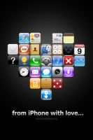 Wallpaper on iPhone theme by smitana