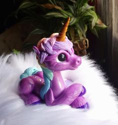 purple unicorn  by Azura-Roselion