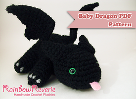 Baby Dragon Amigurumi Pattern by RainbowReverie