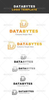 Data byte softeware IT logo template by ExtremeLogo