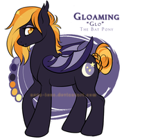 Gloaming the Batpony by NoxxPlush