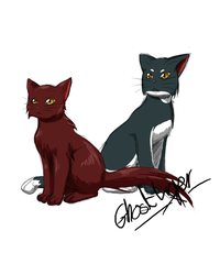 Rusty and Flora by GhostLiger