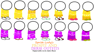 Prospit and Derse Dreamer Sprite Bases!! by The-Sprite-Lady
