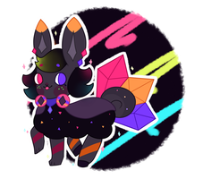 Neon Crystals- Flufferbun DTA [CLOSED] by Peach-n-Creme