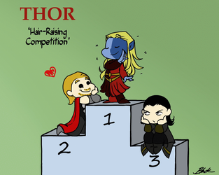 Thor: Hair-Raising Competition by caycowa