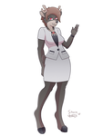 Doe Businesswoman Elaine [Character Month] by crimson-exe