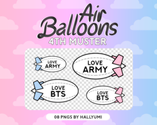 RENDERS: Air Ballons (BTS 4th Muster) by Hallyumi