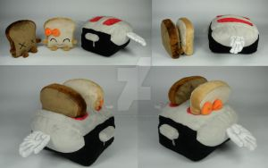 Toaster + Toast Plushies by WhittyKitty