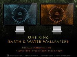 One Ring Earth and Water Wallpapers by MrHighsky