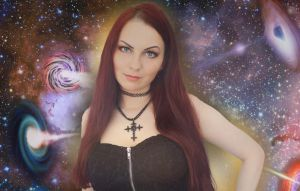 Goddess Amarie absorbs galaxies by ZituKX